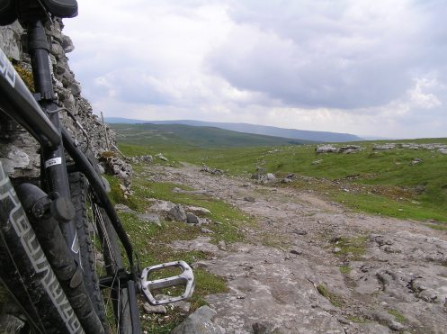 First bit of bridleway from Malham - typical S. Dales stuff.