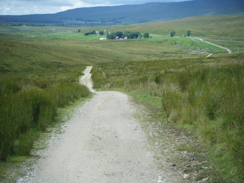 Looking back from Cam End to Ribblehead.