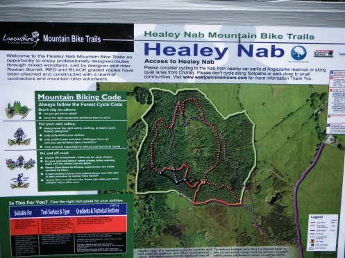 Healey Nab - Trails guide at trail head.