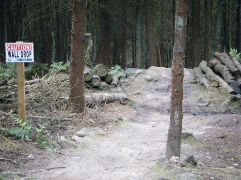 Second obstacle on the black run.